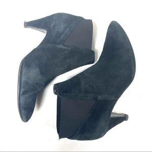 Kate Spade Black Suede Heel Bootie 7.5